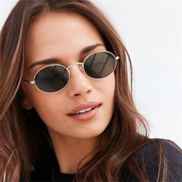red vintage sunglasses Australia - Retro oval sunglasses women 2018 metal small frame Vintage sun glasses Men Mirror Red Black Coating eyewear UV400 oculos