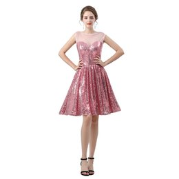 $enCountryForm.capitalKeyWord UK - Wholesale - Cheap Sparkly Gorgeous Jewel A Line Evening Dresses Sequins Short Prom Dress Pageant Celebrity Gowns Custom