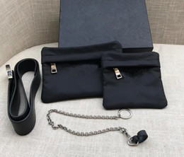Match bags online shopping - Luxury Women Designer Bags Two Piece Nylon Waistbag Chest Bag Purse Match Fabric Tote Handbags Wallet Belt Tote Parachute Fabric Bag