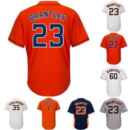 8ccd3dbaa Houston 68 Forrest Whitley 23 Michael Brantley 2 Alex Bregman 27 Jose  Altuve 1 Carlos Correa Yuli Gurriel Justin Verlander Baseball Jerseys