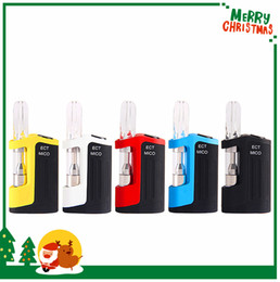 top electronic mods cigarette Australia - 2019 Authentic ECT Mico Vape kit 350mah Box Mod 0.5ml Cartridge Tank Vaporizer Top Refilling 510 Thread Vaper Electronic Cigarette Kit DHL