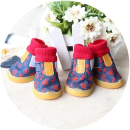 Cats Dogs Shoes NZ - Printed cowboy shoes with rib soles are suitable for small and medium-sized dog threads such as cats and dogs