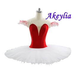 red tutus for women Australia - professional ballet tutu Red white for chilren Without Decoration Platter Tutu black Pink Plain Pink Pancake ballet costume
