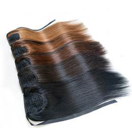 """Brazilian Human Hair Remy Ponytail Extensions Straight 14"""" To 26"""" Ponytails With Clip In Human Hair Extensions Wholesale Factory Price on Sale"""