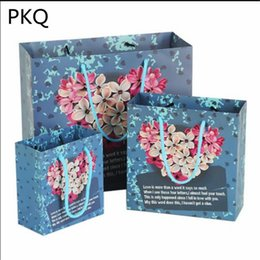 037a392890d 2019 New Gift Packaging Bag Creative Paper Bags for Gifts Cosmetics  Reusable Shopping Bag with Handles Small Present 10pcs