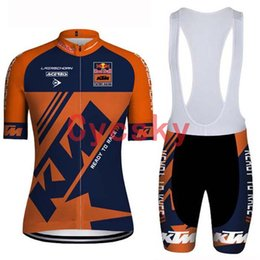 Discount ktm cycling wear - ktm 2019 Funny Cycling Jersey bib shorts Set MTB Bike Clothing Quick Dry Cycling wear Ropa Ciclismo Bicycle Clothes Shor