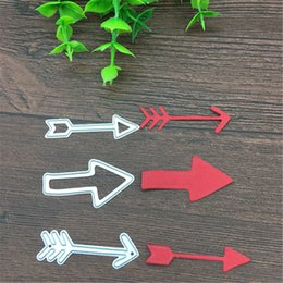 Cards Makers Australia - 3 Pieces of Arrows Card Maker Metal Cutting Dies Stencil Scrapbooking Photo Album Card Paper Embossing Craft DIY free shipping
