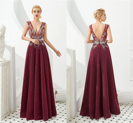 $enCountryForm.capitalKeyWord Australia - 2020 Burgundy Lace Appliqued Prom Dresses 100% Real Pictures Evening Gown Cheap Long Formal Party Mother Of The Bride Dresses Arabian