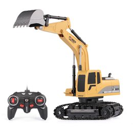 sound controller Australia - 1 24 RC Excavator RC Truck Excavator Construction Tractor Metal Shovel Kids Toy with Lights & Sounds