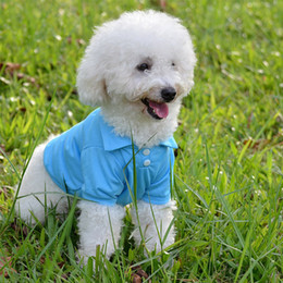 T Shirts Material Wholesale Australia - DHL Fashion Dog Polo Shirts For Spring Summer Colorful Pet Clothes Poromeric Material For Small Baby Pet Easy Washing Factory Price