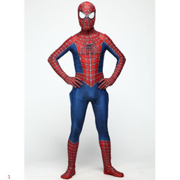 men leotards Australia - Halloween Costumes Spider-Man Cosplay for Adults Disfraces De Halloween Costume Classic Tony Remy Piece Leotard Characters Playing Clothing