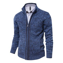 Famous brand cardigan sweaters online shopping - men sweaters knitted zipper cardigan male Top quality famous brand clothing christmas sweater