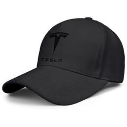 $enCountryForm.capitalKeyWord UK - Womens Mens Plain Adjustable Tesla Model LOGO Hip Hop Cotton Snapback Hat Golf Flat Top Hat Airy Mesh Hats For Men Women