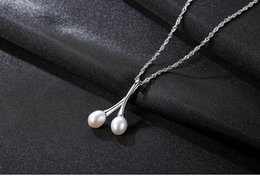 necklaces pendants Australia - hot S925 Sterling Silver Jewelry Fashion Natural Pearl Necklace Pearl Pendant Silver Item LBM24