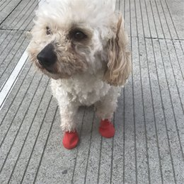 Boots For Dogs Australia - Pet Boots Socks Medium Dog shoes Waterproof Rain Shoes Non-slip Rubber Puppy Shoes for Dog Pets Supplies