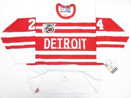 Cheap red wing jerseys online shopping - Cheap custom BOB PROBERT DETROIT RED WINGS TBTC VINTAGE CCM JERSEY stitch add any number any name Mens Hockey Jersey XS XL
