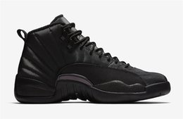 Real Authentic Shoes UK - 2018 Top Authentic 12 High Winterized Triple Black 12S WNTR Anthracite Man Basketball Shoes Real Carbon Fiber Sneakers BQ6851-001