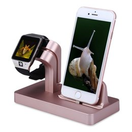 Wholesale Charging Dock Stand Holder For Apple watch band mm mm iwatch mm mmIPhone X Plus S plus charger station