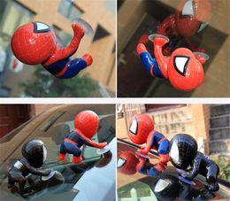 $enCountryForm.capitalKeyWord Australia - 2019 New 16cm Spiderman action figure Spider Man Toy Climbing Window Sucker for Spider-Man Doll Car Home Interior Decoration Free Shipping