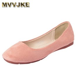 Black Cutters Australia - MVVJKELady SquareToe Plus Size Kid Suede Flats For Width Feet TPRSole High Quality Ballet LoafersGreyGreenLow Cutter Slip OnE232