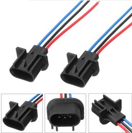 $enCountryForm.capitalKeyWord Australia - Car Light Base 9008 H13 Auto Car male plastic socket case for Halogen led headlamp Headlight Male Pre-wired Adapter Connector Plug Socket