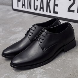 $enCountryForm.capitalKeyWord UK - 1Ventilation Sharp Leather Shoes Man Leisure Time Male Shoes England Business Affairs Correct Dress Within Increase Groom Wedding Shoes