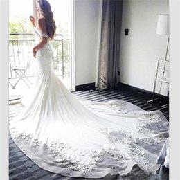$enCountryForm.capitalKeyWord Australia - 2018 Hot Sale White Lace Mermaid Wedding Dresses Court Train Off Shoulder Beads V Neck Wedding Dress Covered Buttons Vintage Bridal Gowns