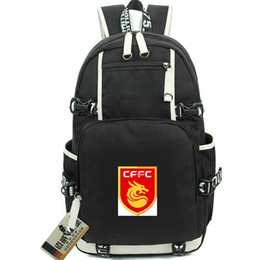 5d41ecb4c4 Black Dragon Backpack Australia - Hebei backpack China Fortune FC club day  pack Dragon Football school