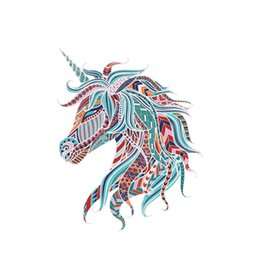 $enCountryForm.capitalKeyWord UK - Creative Unicorn Wall Decal PVC Removable Colorful Horse Wall Sticker for Bedroom Kids Room Decoration Unicorn Decor