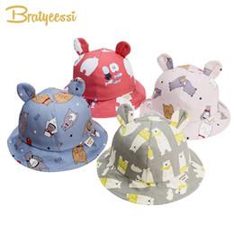 $enCountryForm.capitalKeyWord Australia - Cute Baby Hat for Girls Cartoon Baby Boy Hat with Ears Spring Autumn Children Cap Cotton Kids Hats Toddler Baby Muts