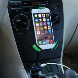"$enCountryForm.capitalKeyWord Australia - Car Phone Holder Stand with 3 USB Port Quick Car-Charger Cigarette Lighter Flexible Gooseneck Support Mount for 3.5-6.3"" Mobile"