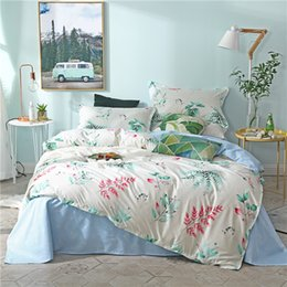 $enCountryForm.capitalKeyWord Australia - White Bedding Sets leaf Duvet Cover blue Bed Sheets Pillowcases twin full queen king quilt Comforter cover simple bedclothes