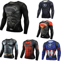 $enCountryForm.capitalKeyWord Australia - Men's Compression Running Sports Suit Clothes Sports Set 3D Superman USA Team Long Sleeve T-Shirt Gym Fitness Sports Tightcloth