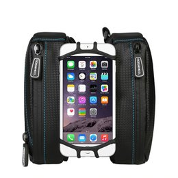 Tube fronT online shopping - ROSWHEEL Waterproof Bicycle Bag Front Frame Top Tube Bag Cycling Bicycle With Phone Stand Case For inch Phone