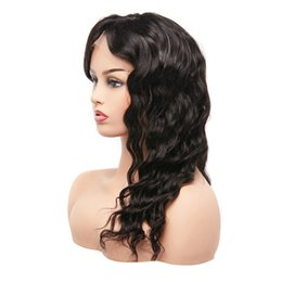 $enCountryForm.capitalKeyWord UK - 20inch Customized Unprocessed Cuticle Aligned Brazilian Human Hair Long Loose Wave Swiss Lace Front Wig