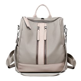 9b2704ec903a Luxury Designer Women Backpack Large Capacity Ladies Oxford Backpack Fashion  Double Zipper School Bags For Teenager Girls