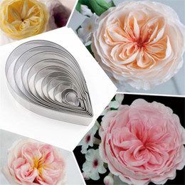 Diy Cutter Australia - 2019 New Creative DIY Austin Rose Fondant Cake Sugar Petal Cutter mold 430 Stainless Steel Cake tools