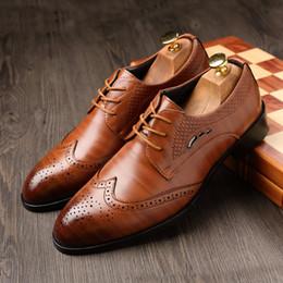 $enCountryForm.capitalKeyWord Australia - Big Size 37-48 Oxfords Leather Men Shoes Fashion Casual Pointed Top Formal Business Male Wedding Dress Flats Wholesales 2019 New