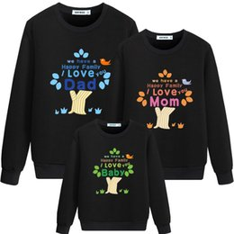Match Clothing Mom Baby NZ - New Mom Dad Baby The Happy Family Printed Family Matching Outfits Clothing winter Cotton Male Causual wear QX01A02CF
