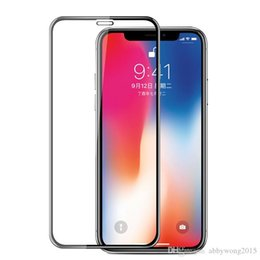 $enCountryForm.capitalKeyWord Australia - Full Cover Tempered Glass Screen Protector For iPhone XS Max 6.5 Clear Full Glue Protective Film Guard With Retail Package Box By DHL