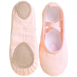 New Design Kids Dance Slippers Adult Professional Canvas Soft Sole Ballet Shoes Girls Women Children Ballet Slippers on Sale