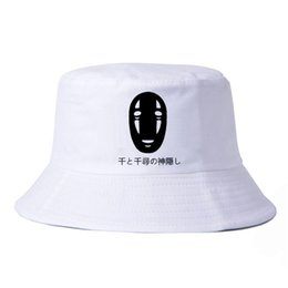 animal face masks Australia - Spirited Away Bucket Hats New Animation No Face Mask Man HipHop Snapback Cap Men Women Film Miyazaki Hayao Basin caps