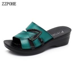 $enCountryForm.capitalKeyWord Canada - Zzpohe 2018 New Hot Sale Women Summer Slip On Leather Open Toe Sandals Woman Flip Flops Wedges Platform Ladies Beach Shoes T8190701