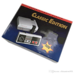 tv video game system UK - Classic Game TV Video Handheld Console Newest Entertainment System Classic Games For 500 New Edition Model NES Mini Game Consoles