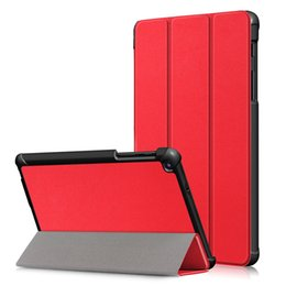 Flip Covers For Samsung Galaxy S Australia - Tri-folidng Flip PU Leather Case Magnetic Stand Cover for Samsung Galaxy Tab A 8.0 inch (2019) SM-P200 SM-P205 (with S Pen) Tablet+Stylus