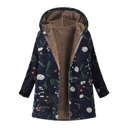 Womens Parkas Australia - Plus Size 5XL Winter Jacket Long Coat Women Fashion 2018 Ukraine Floral Print Hooded Woman Jackets Parka Womens Tops And Blouses