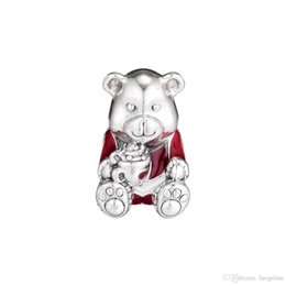 $enCountryForm.capitalKeyWord Australia - 2018 Winter 925 Sterling Silver Jewelry Christmas Red Bear Enamel Charm Beads Fits Pandora Bracelets Necklace For Women Jewelry