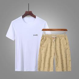 Summer Sportswear Suit Australia - 2019 Summer Sports Suit Men Tracksuit Casual Short Sets Mens Sportswear 2 Pieces Set T-Shirt+Shorts Clothes Asia Size 5XL