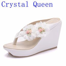 Woman sWing sandals online shopping - Crystal Summer Women s Flip Flop Sandals Platform Flip Flops Slippers Sandals Swing Wedges Women Shoes Plus Size