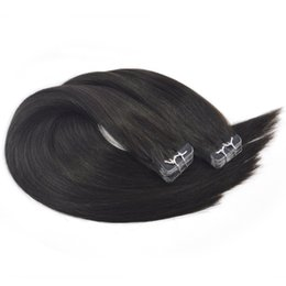 Chinese  20 inch Skin Weft Tape in Hair Extensions 50g 20pcs Natural Black Long Straight 100% Human Hair Seamless Double Sided Tapes on manufacturers